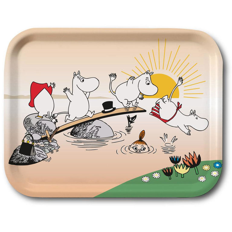 "Moomin ""Evening Swim"" Tray 27x20cm - Opto Design - The Official Moomin Shop"