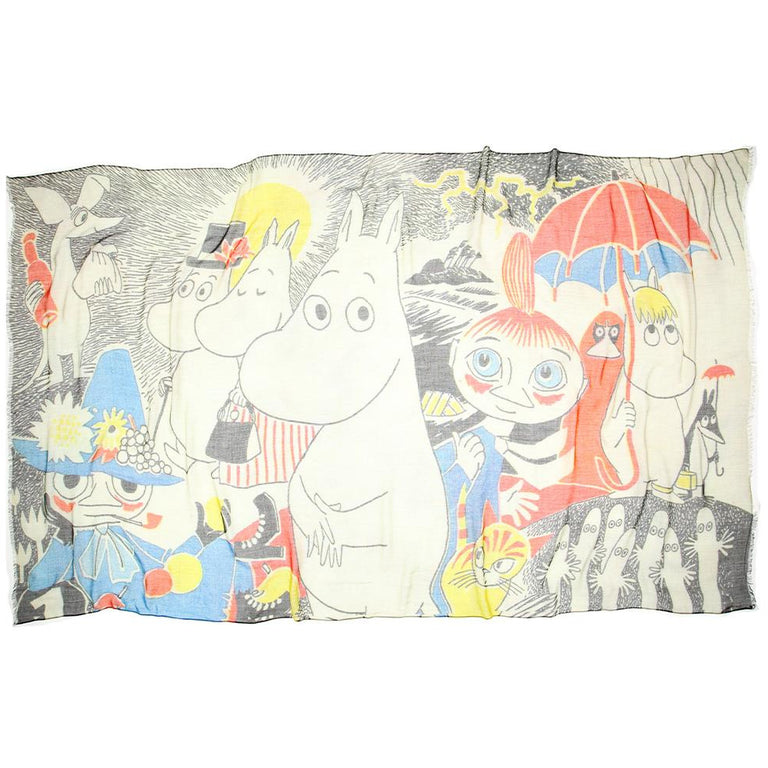 Moomin Comic scarf by Lasessor - The Official Moomin Shop