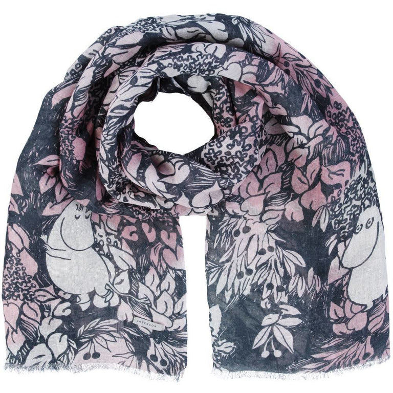 "Moomin ""Finn Family"" Scarf rosa - Lasessor - The Official Moomin Shop"