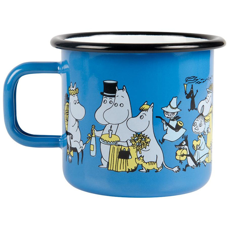 Moomin Shop 20 years jubilee enamel mug 3,7 dl - Limited edition - The Official Moomin Shop