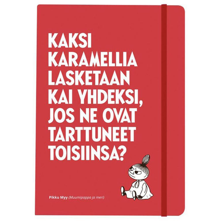 "Little My ""Two toffees..."" notebook by Putinki - The Official Moomin Shop"