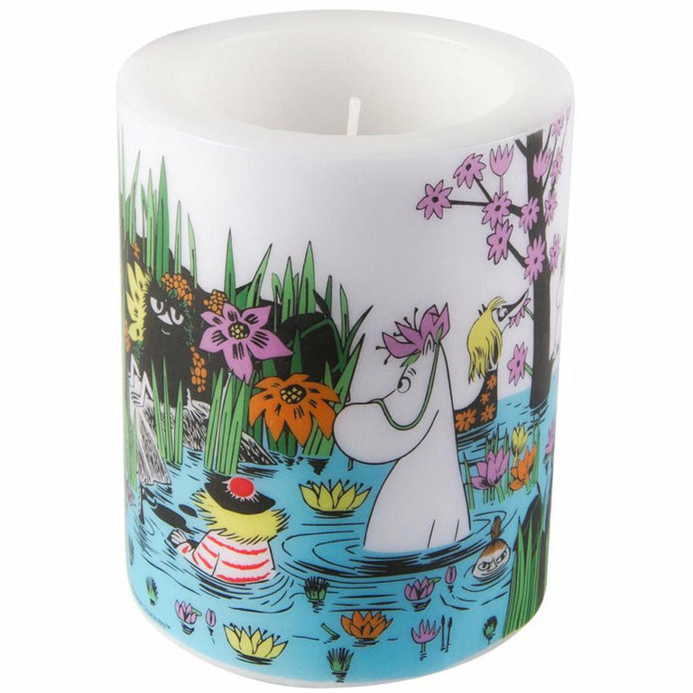 "Moomin ""Trip to the Pond"" Candle 12cm - Muurla - The Official Moomin Shop"