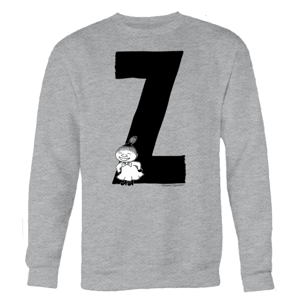 Z - Moomin Alphabet Sweatshirt - feat. Moomin, Little My and Snufkin - The Official Moomin Shop