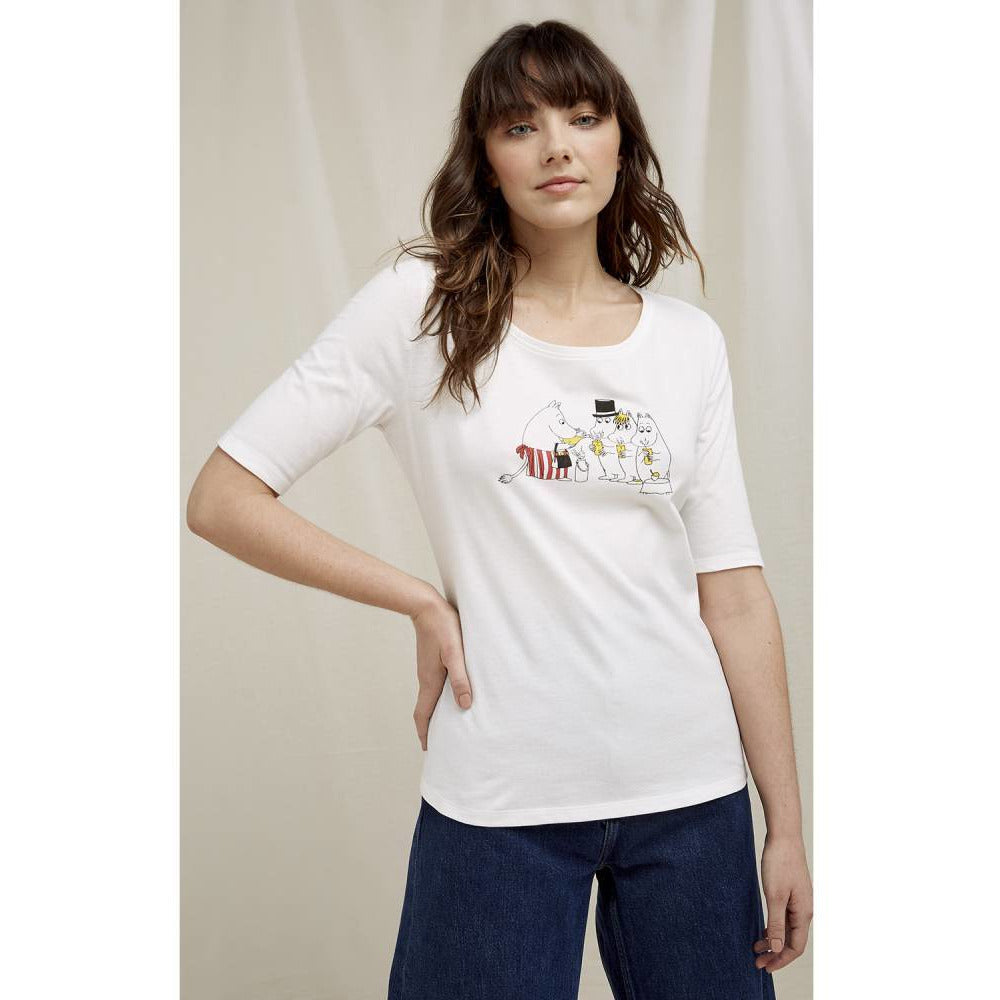 "Moomin ""Party"" T-shirt- People Tree - The Official Moomin Shop"