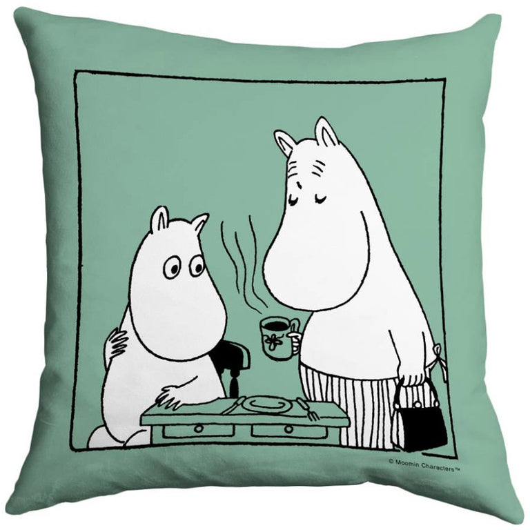 "Moomin ""Coffee time"" Cushion Cover - Star Editions - The Official Moomin Shop"