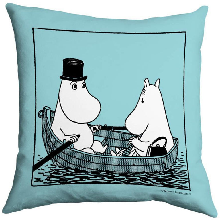 "Moomin ""Rowing"" Cushion Cover - Star Editions - The Official Moomin Shop"