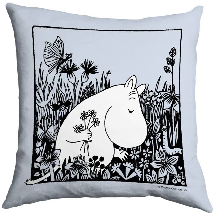 "Moomin ""Flowers"" Cushion Cover - Star Editions - The Official Moomin Shop"
