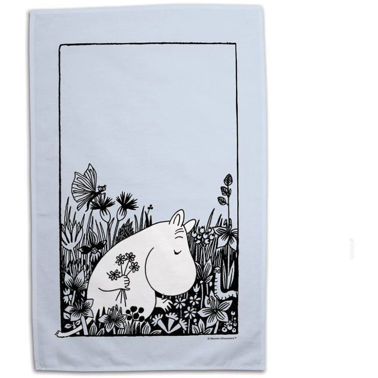 "Moomin ""Flowers"" Kitchen Towel - Star Edition - The Official Moomin Shop"