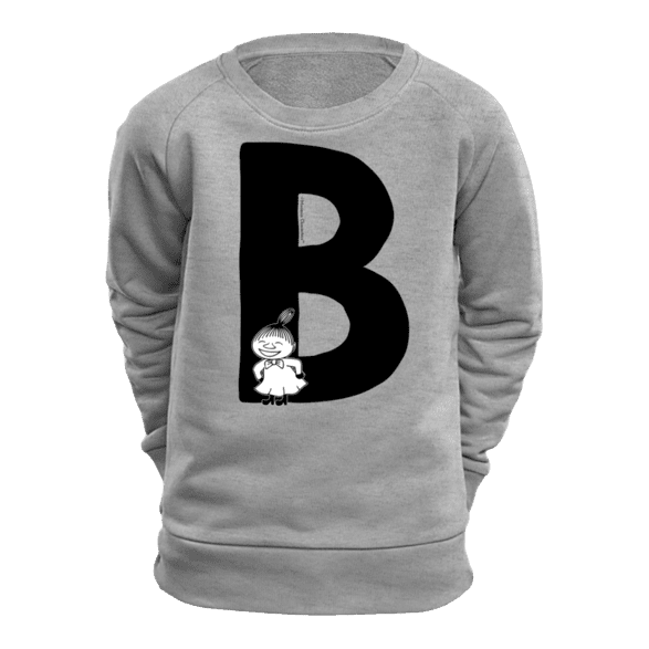 B - Moomin Alphabet Sweatshirt - feat. Moomin, Little My and Snufkin - The Official Moomin Shop