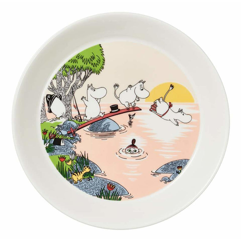 Moomin Summer Plate 2019 by Arabia - Evening swim - The Official Moomin Shop