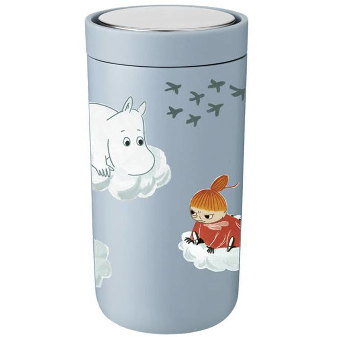Moomin Thermal Flask 0,2 l blue - Stelton - The Official Moomin Shop