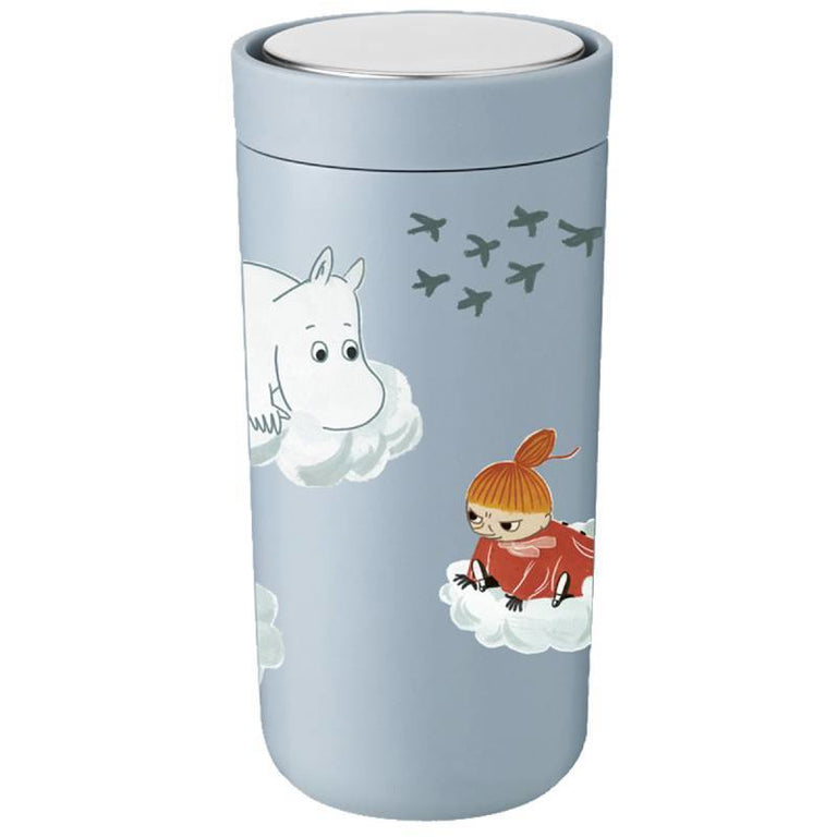 Moomin Thermal Flask 0,4 l blue - Stelton - The Official Moomin Shop