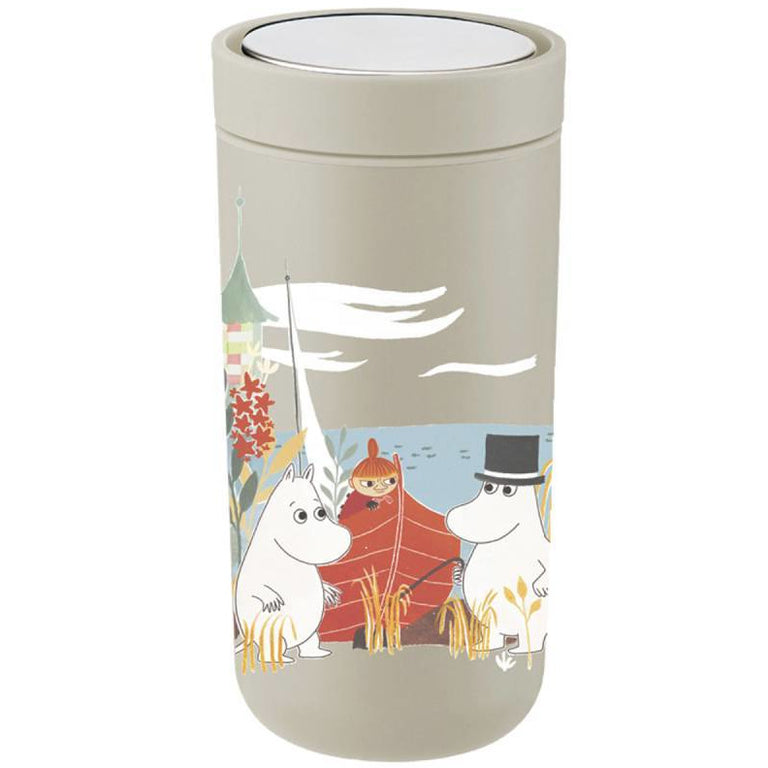 Moomin Thermal Flask 0,4 l sand - Stelton - The Official Moomin Shop