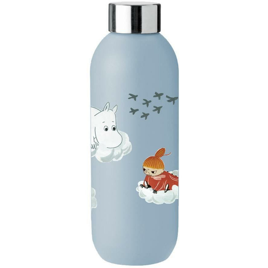 Moomin Drinking Bottle 0,75 l blue - Stelton - The Official Moomin Shop