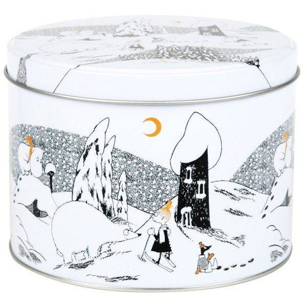 Moominvalley Winter round jar - The Official Moomin Shop