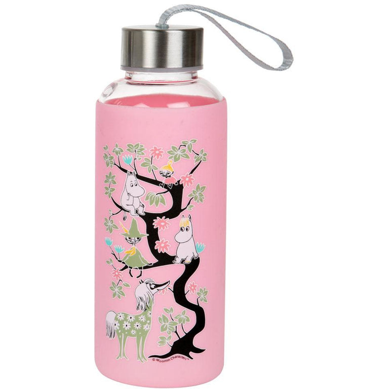 Moomin climbing a tree - bottle light pink - The Official Moomin Shop