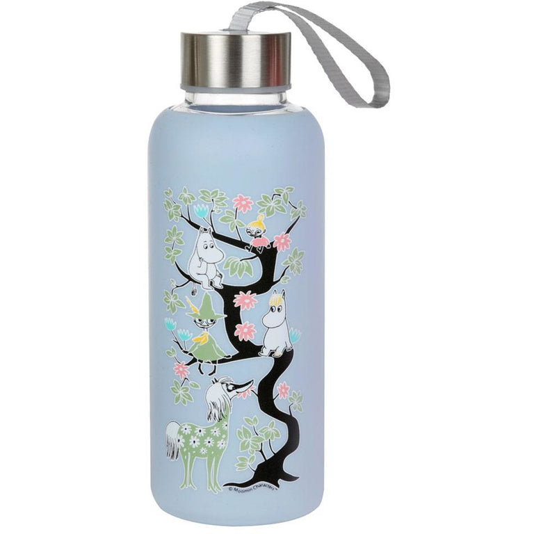 Moomin climbing a tree - bottle light blue - The Official Moomin Shop