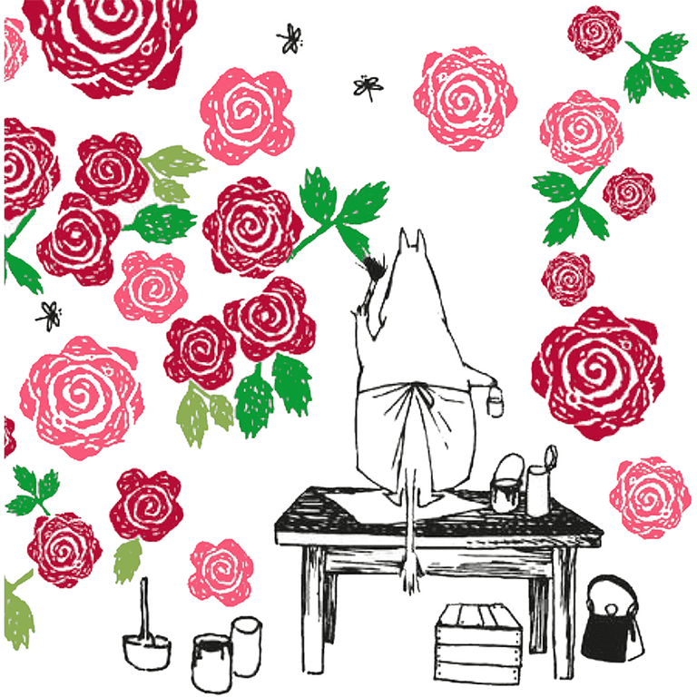 Moominmamma Rosegarden napkins - Suomen Kerta - The Official Moomin Shop