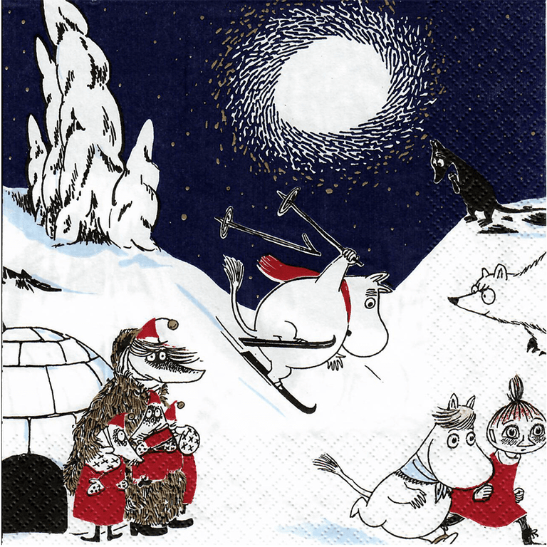 Moomin Napkins Winterland  - Suomen Kerta - The Official Moomin Shop