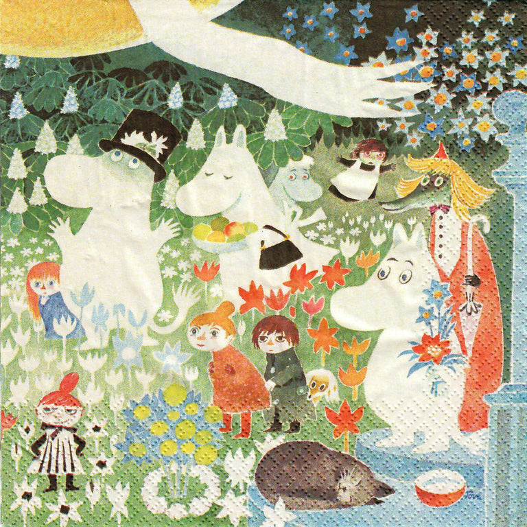 "Moomin Napkins ""Meadow"" - Suomen Kerta - The Official Moomin Shop"