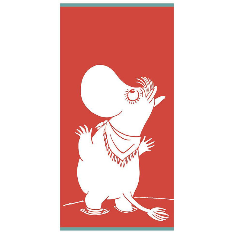 Snorkmaiden Admiring bath towel 70 x 140 cm by Finlayson - The Official Moomin Shop