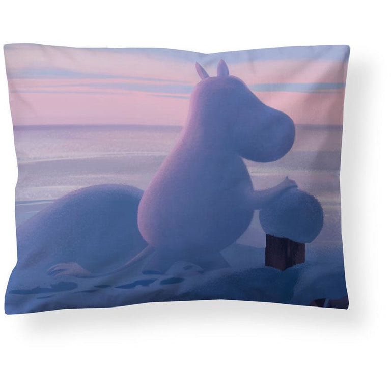 Moominvalley Winter satin pillowcase 50 x 60 cm by Finlayson - The Official Moomin Shop