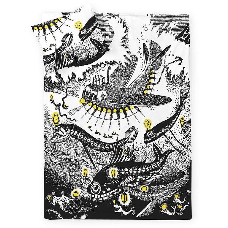 Moomin Oshun Oxtra duvet cover set 150 x 210 cm by Finlayson - The Official Moomin Shop