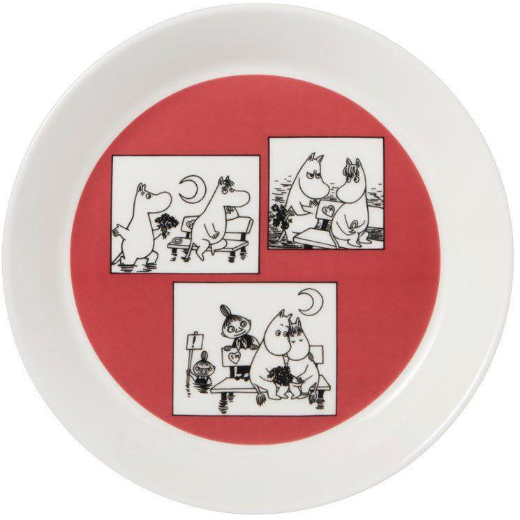 "Moomin ""Collector's edition plate 2-pack 2018: Rose & Millennium"" - Arabia - The Official Moomin Shop"