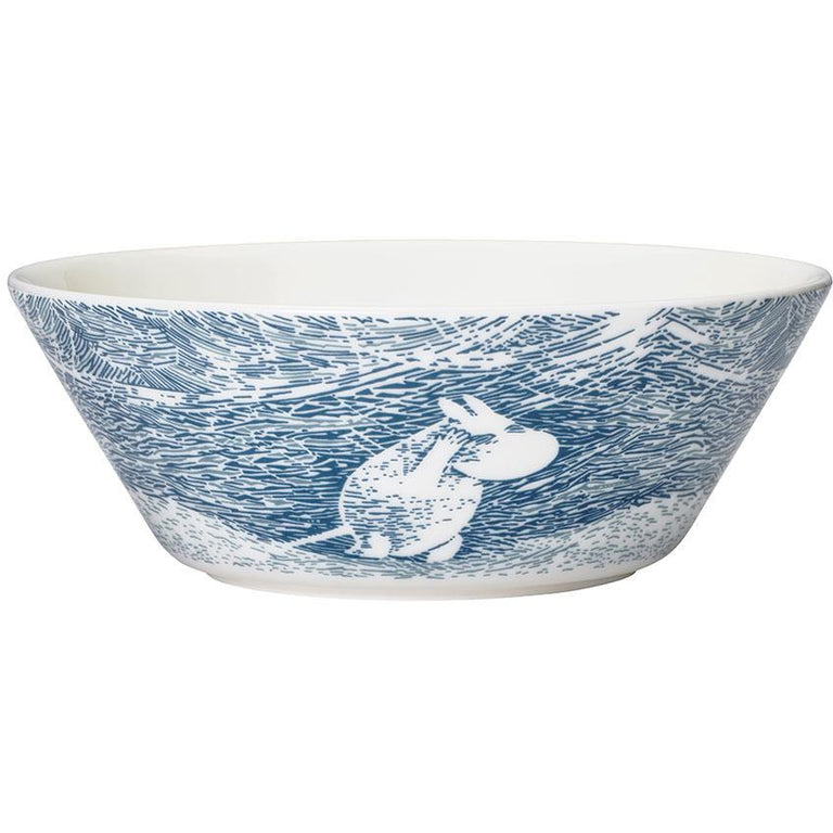 Moomin 'Snow Blizzard' Winter Bowl 2020 - Arabia - The Official Moomin Shop