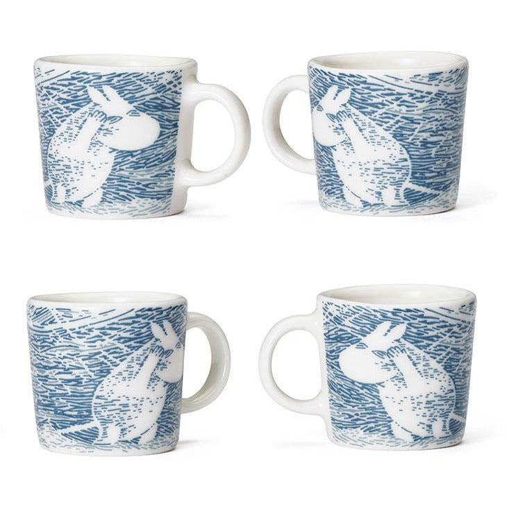 Moomin 'Snow Blizzard' Winter Minimugs 2020 - Arabia - The Official Moomin Shop