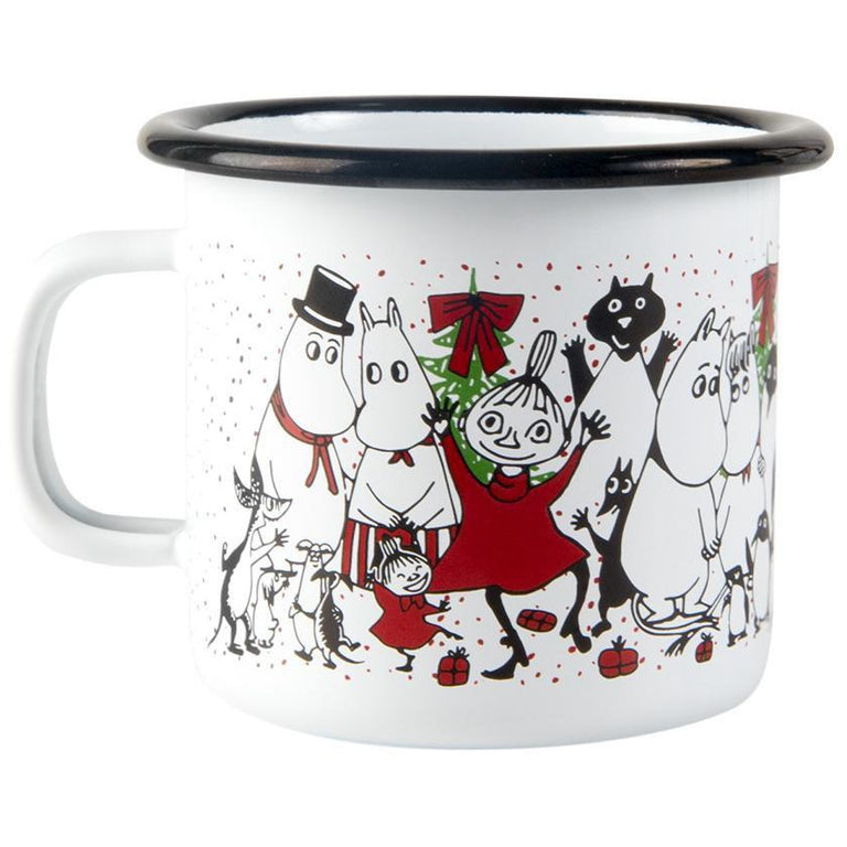 Moomin Winter Magic enamel mug 2,5dl - The Official Moomin Shop