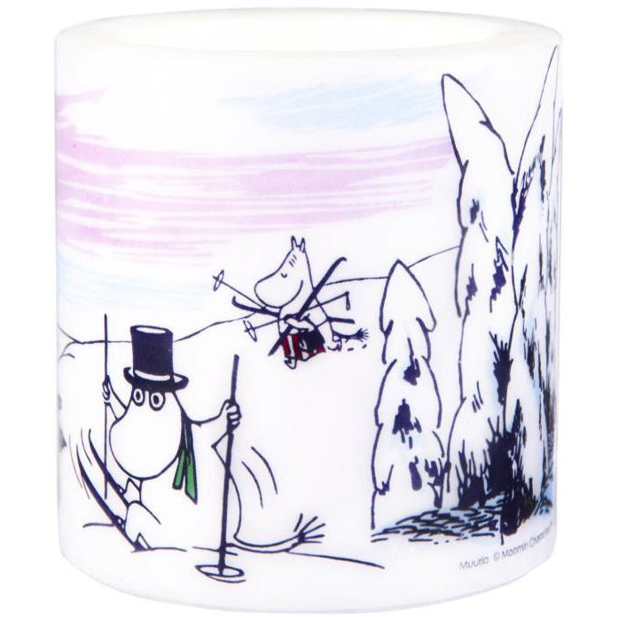 "Moomin ""Winter"" Candle 8cm - Muurla - The Official Moomin Shop"