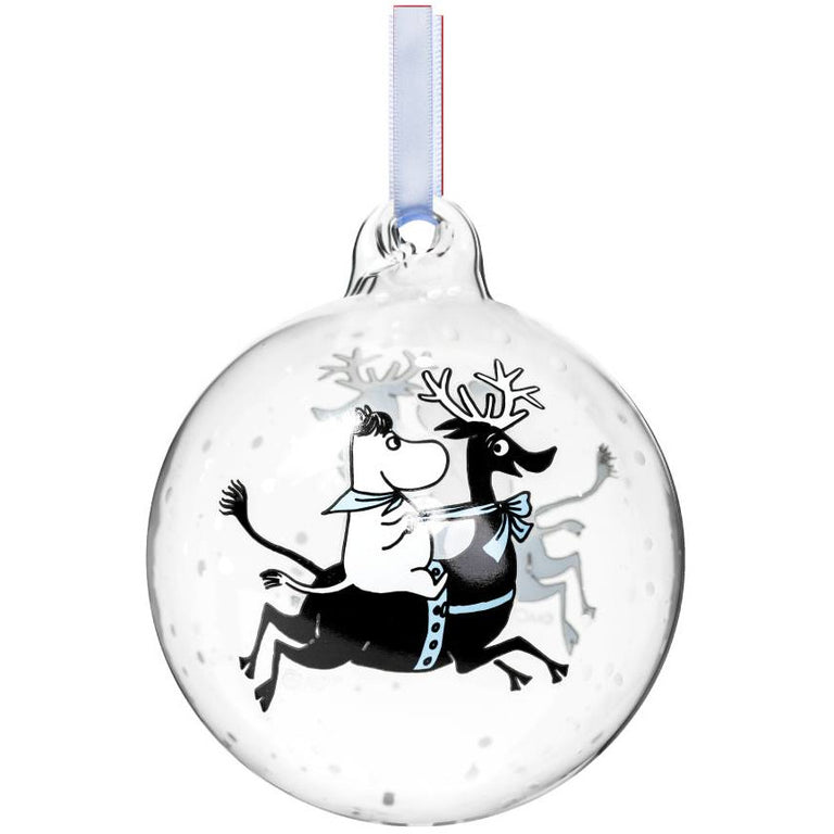 "Moomin ""Reindeer ride"" Decoration Ball - Muurla - The Official Moomin Shop"