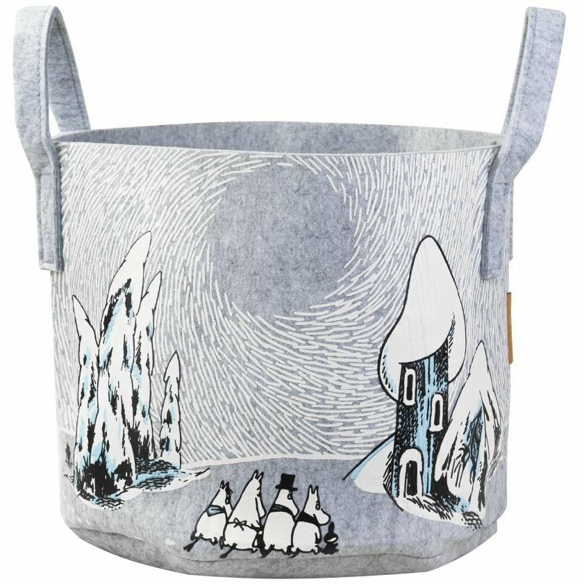 "Moomin ""Snowy valley"" Storage Basket - Muurla - The Official Moomin Shop"