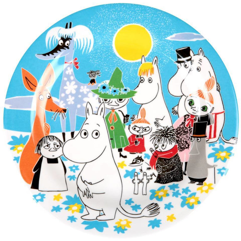 "Moomin ""Summer Day"" Plate - Martinex - The Official Moomin Shop"