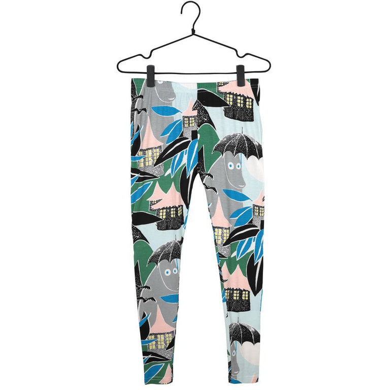 Green Hemulen leggings by Martinex - The Official Moomin Shop