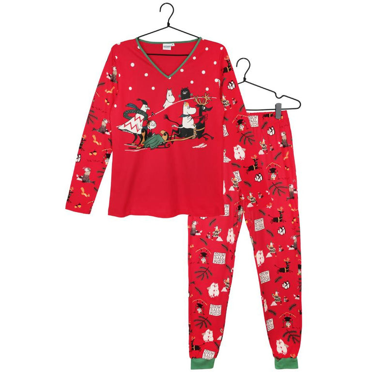 Moominmamma Snowball Match two-piece Pyjama - Martinex - The Official Moomin Shop