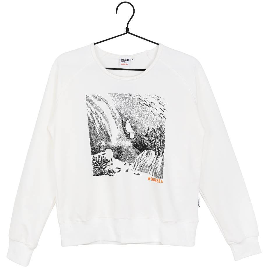 #OURSEA Moomin Sweatshirt white - Martinex - The Official Moomin Shop
