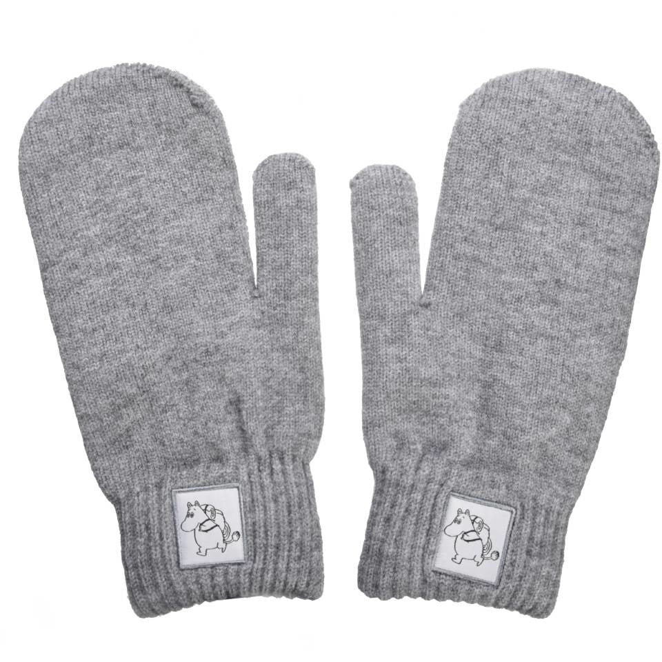 Moomintroll Mittens gray - Nordicbuddies - The Official Moomin Shop