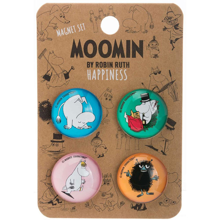 "Moomin ""Happiness"" Magnet Set - Nordicbuddies - The Official Moomin Shop"