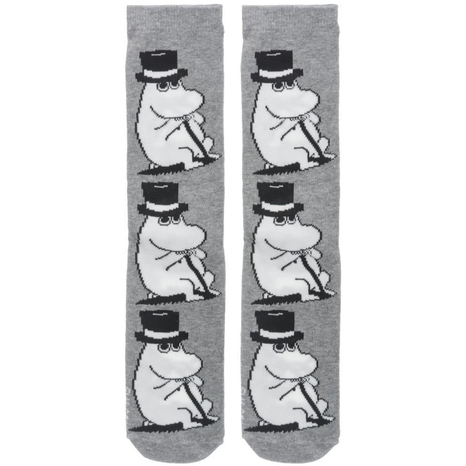 Moominpappa Socks gray - Nordicbuddies - The Official Moomin Shop