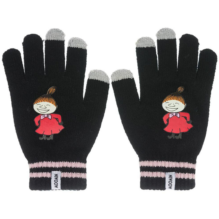 Little My Mittens black - Nordicbuddies - The Official Moomin Shop