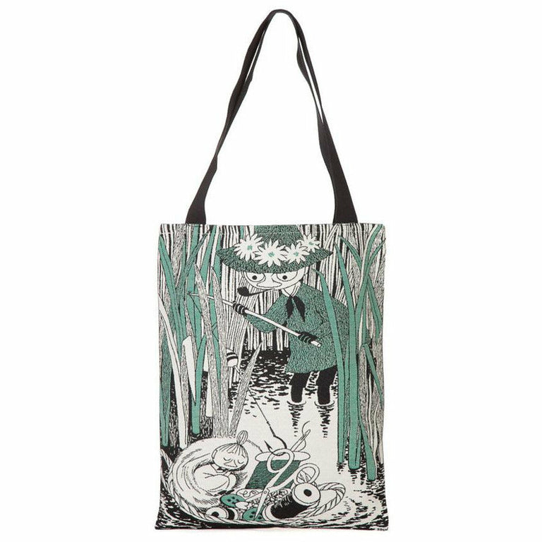 Little My in Basket shopping bag by Aurora Decorari - The Official Moomin Shop