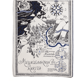 Map of Moominvalley - wall tapestry by Aurora Decorari