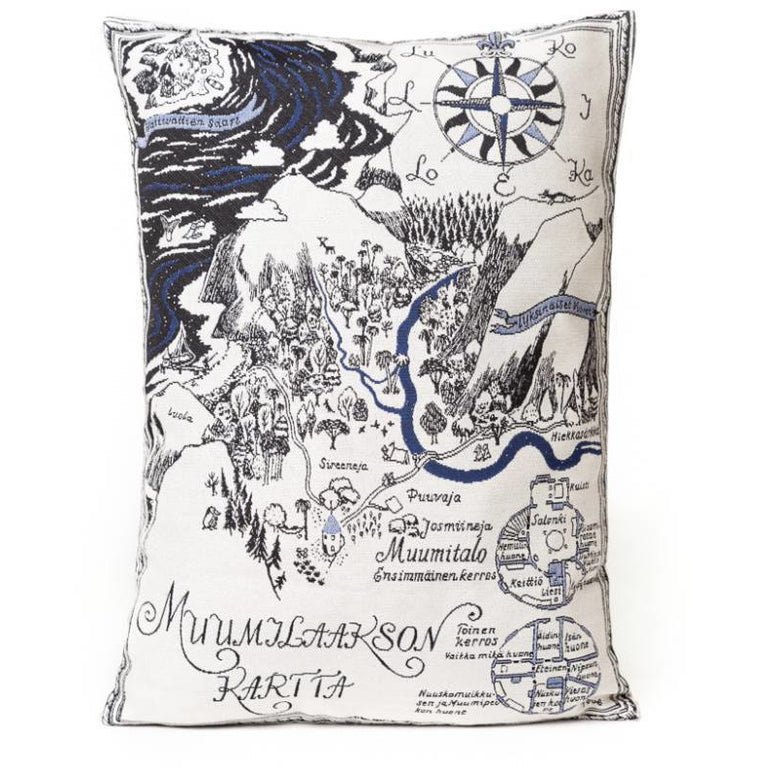 Map of Moominvalley Cushion Cover - Aurora Decorari - The Official Moomin Shop
