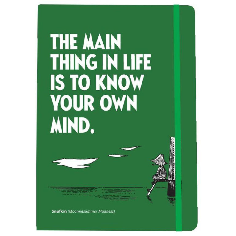 "Snufkin ""The Main Thing in Life..."" Notebook by Putinki - The Official Moomin Shop"