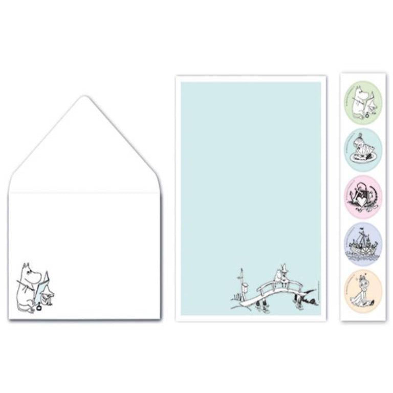 "Moomin ""On a Brigde"" Letter set - Putinki - The Official Moomin Shop"