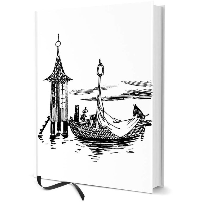 "Moomin hard cover Notebook ""The boat and the bath house"" - Putinki - The Official Moomin Shop"