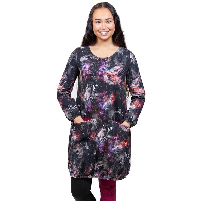 Moomin Universum women's tunic-dress with pockets - The Official Moomin Shop