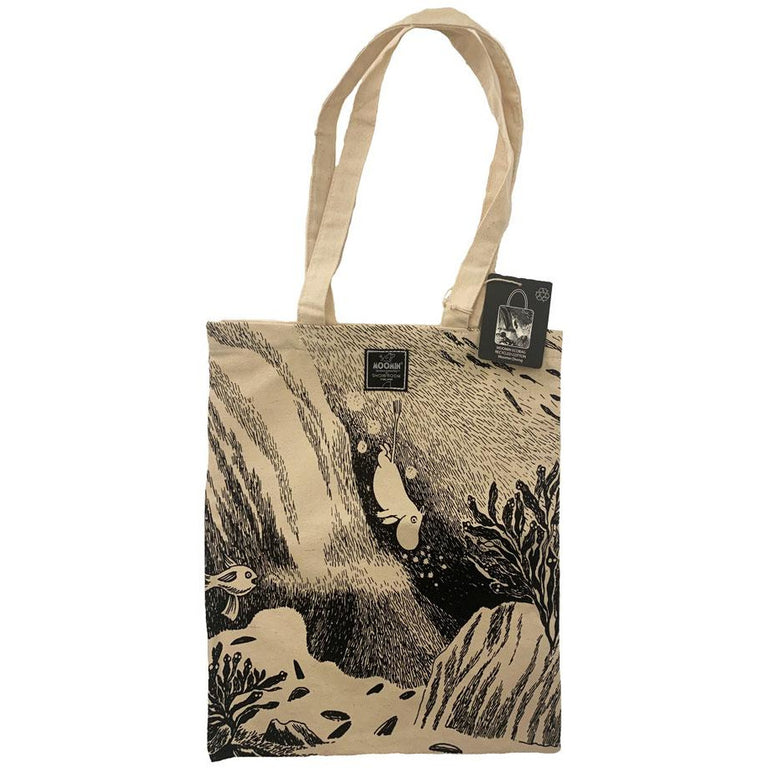 "#OURSEA Moomintroll Cotton Bag ""Diving"" - Showroom - The Official Moomin Shop"
